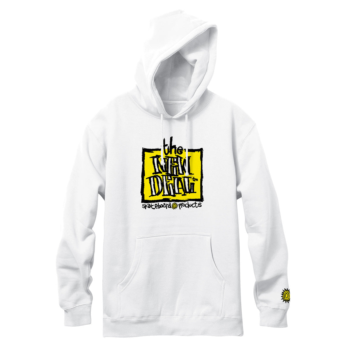 New Deal OG Napkin Logo Hooded Sweatshirt - White