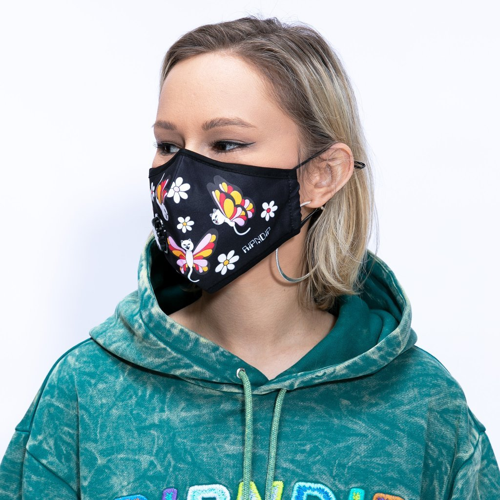 RIPNDIP Ventilator Face Mask - Butterfly graphic