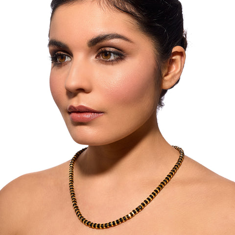 Vivian black and gold Alice Menter necklace