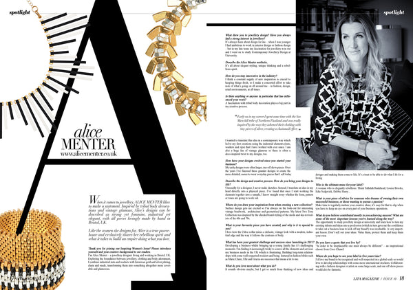 Alice Menter in Lita Magazine