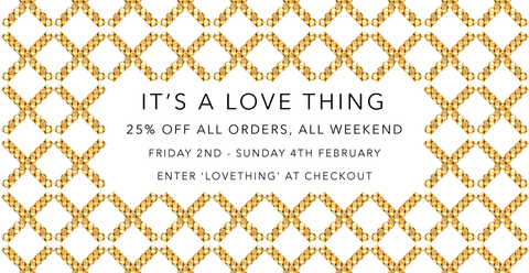 25% off all orders, all weekend