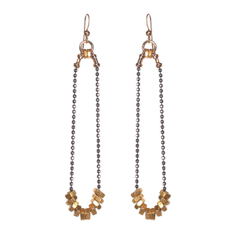 Cassie Gold Earrings by Alice Menter - 1