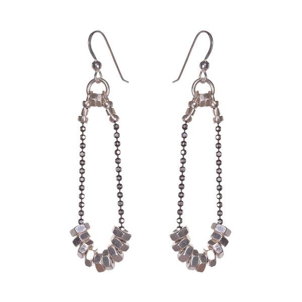Cassie Silver Earrings by Alice Menter - 1