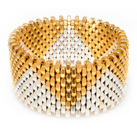 Christie Gold & Silver Cuff by Alice Menter - 1