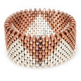 Christie Rose & Silver Cuff by Alice Menter - 1