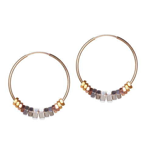 Clari Gold Metallics Earrings by Alice Menter - 1