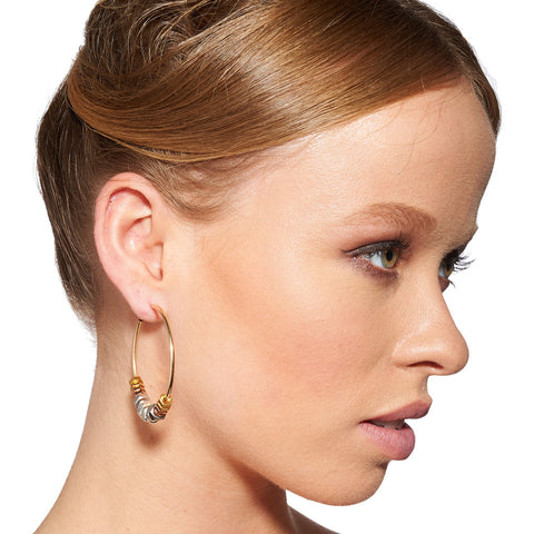 Clari Gold Metallics Earrings by Alice Menter - 2