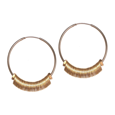 Clari Gold Washers Earrings by Alice Menter - 1