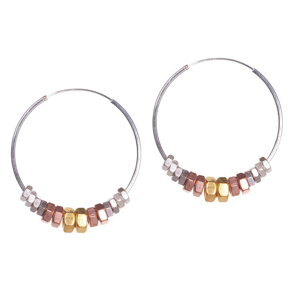 Clari Silver Metallics Earrings by Alice Menter - 1