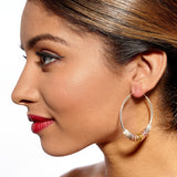 Clari Silver Metallics Earrings by Alice Menter - 2