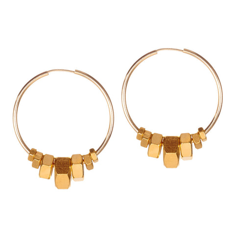 Harper Gold Earrings by Alice Menter - 1