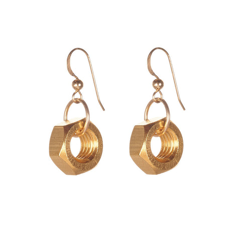 Harriet Gold Earrings by Alice Menter - 1