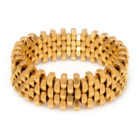 Rebecca Gold Cuff by Alice Menter - 1