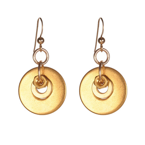 Rosie Gold Earrings by Alice Menter - 1