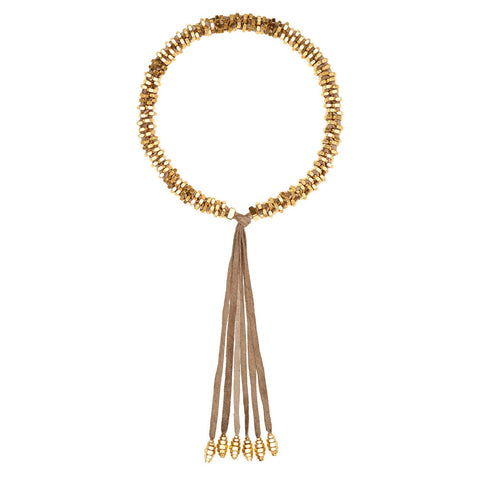 Silky Gold Necklace by Alice Menter