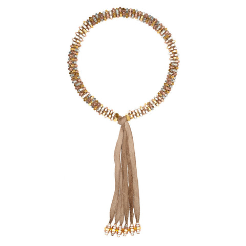 Silky Metallics Necklace by Alice Menter
