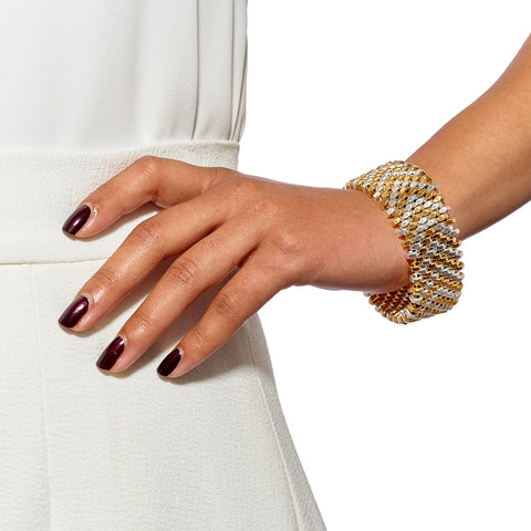 Stevie Chevron Cuff by Alice Menter - 2