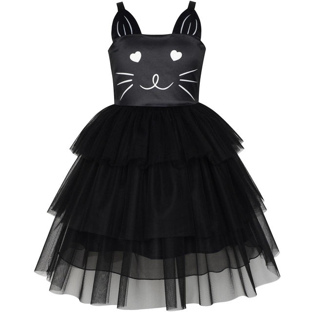 black cat tulle tutu party dress halloween costume kenzies couture
