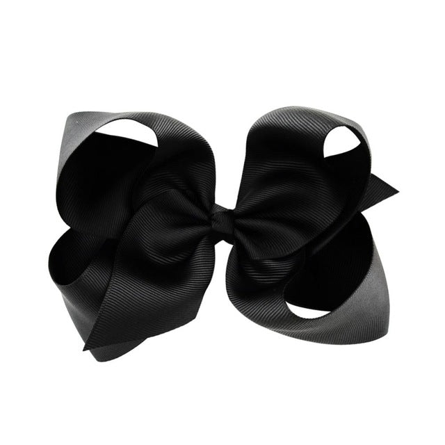 Girls 6 Inch Hair Bows Black White Red Kenzie S Couture