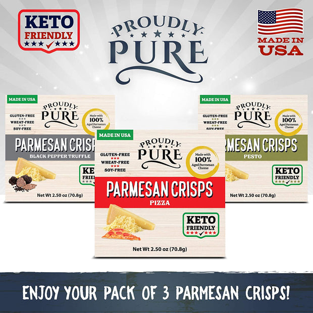 Keto Friendly Parmesan Cheese Crisps Low Carb 3 PACK (New Flavors)