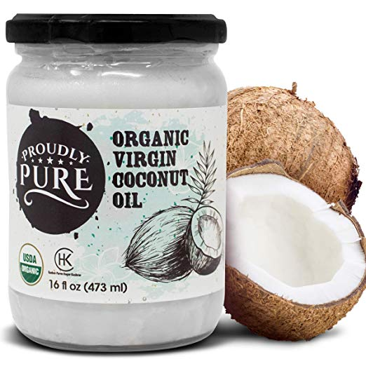Proudly Pure Virgin & Unrefined Cold-Pressed Coconut Oil (16oz)