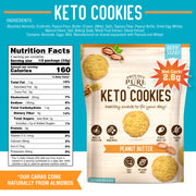 Mini Bite Size Keto Cookie Low Carb, Gluten Free Cookies (3 Pack)