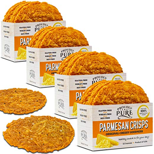 Keto Friendly Parmesan Cheese Crisps Low Carb 4 PACK