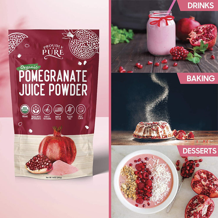 Organic Pomegranate Powdered Juice Packed with Antioxidants