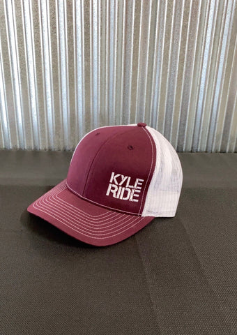 KYLE RIDE HAT - MAROON/WHITE