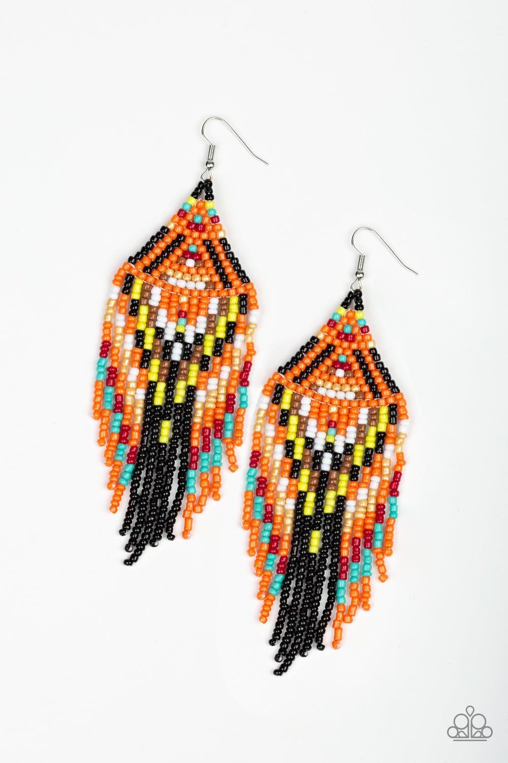 Paparazzi Boho Blast - Black Earrings