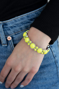 Paparazzi Bubbly Belle - Yellow Bracelet