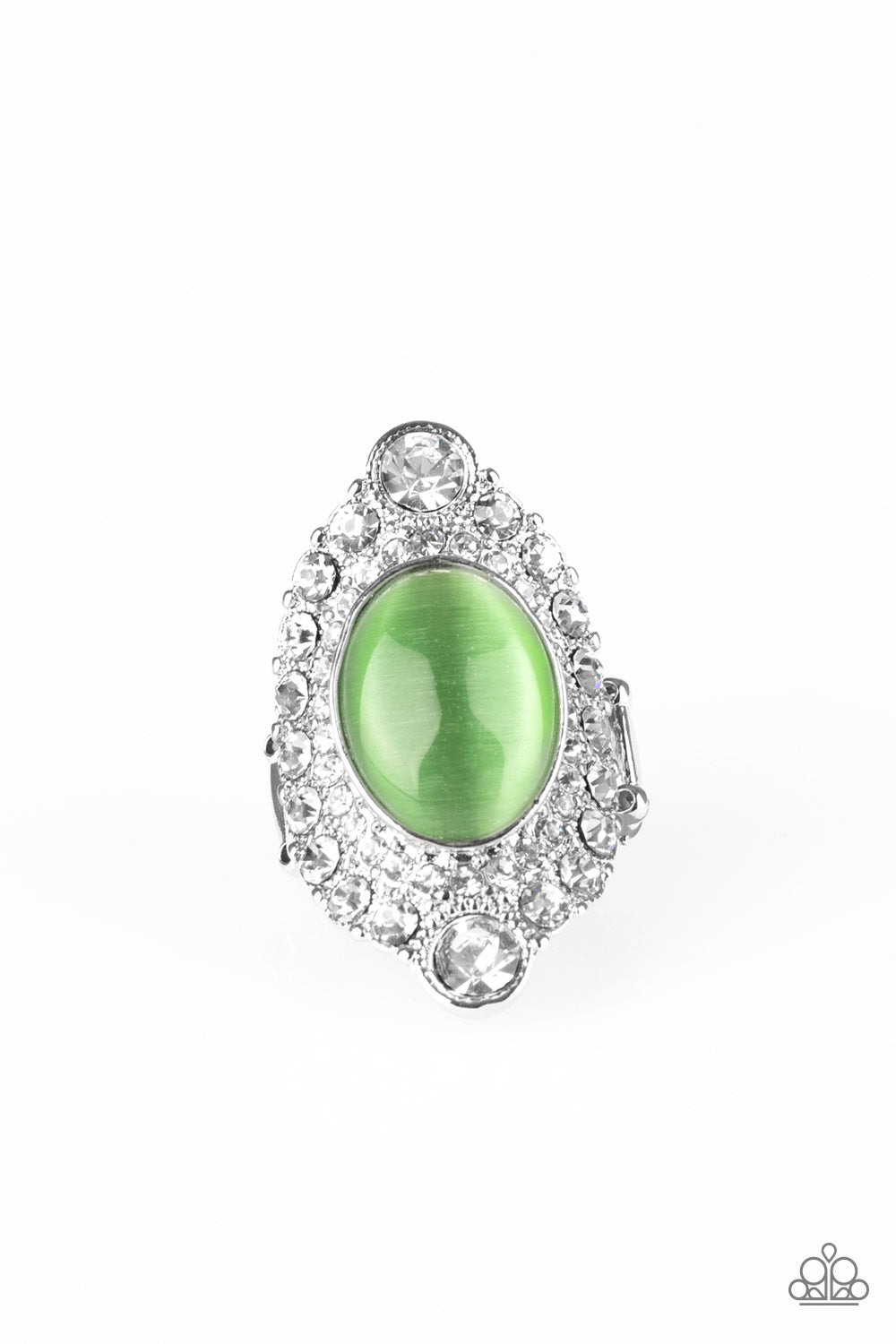 Paparazzi Riviera Royalty Green Papa Ring R115