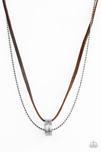 Paparazzi / The Ring Bearer - Brown Necklace
