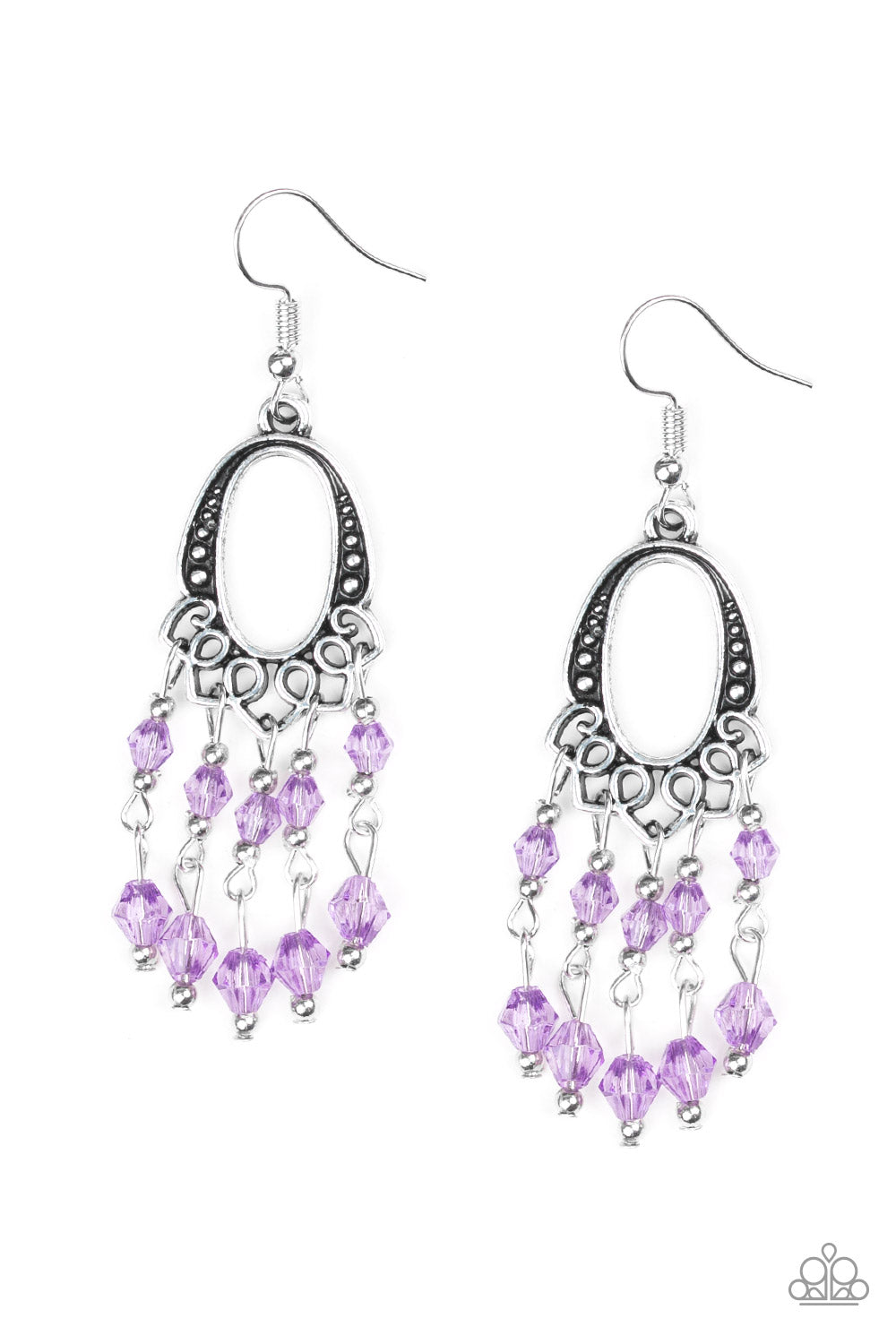 Paparazzi Not The Only Fish In The Sea Purple Earrings