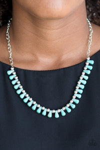 Paparazzi Extinct Species - Blue Necklace