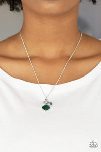 Stylishly Square - Green Necklace