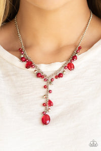 Paparazzi Crystal Couture - Red Necklace