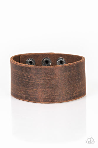Paparazzi Casually Cowboy - Brown Urban Bracelet
