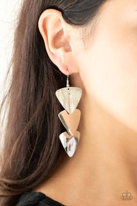 Paparazzi Terra Trek - Silver Earrings