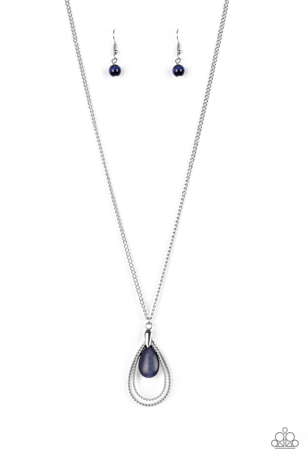 Paparazzi Teardrop Tranquility - Blue Necklace