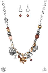 Paparazzi Charmed, I Am Sure - Brown Necklace