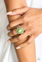 Load image into Gallery viewer, Paparazzi Colorfully Rustic Papa Green Ring