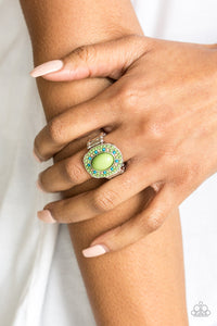 Paparazzi Colorfully Rustic Papa Green Ring
