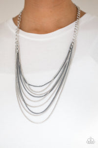 Paparazzi Rebel Rainbow - Silver Necklace N-S38
