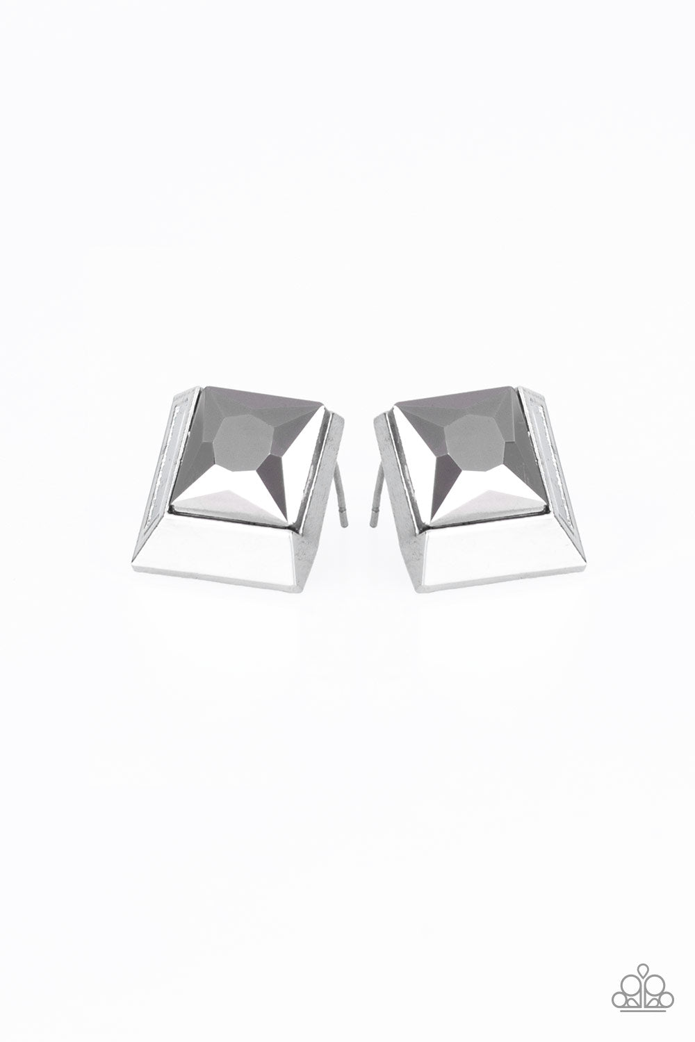 Paparazzi Stellar Square - Silver Earrings