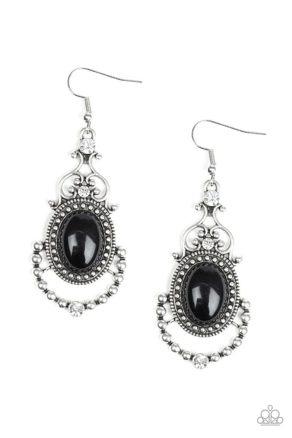 Paparazzi Cameo and Juliet Black Earrings