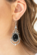 Load image into Gallery viewer, Paparazzi Cameo and Juliet Black Earrings