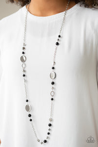 Paparazzi Serenely Springtime Black Necklace B-18