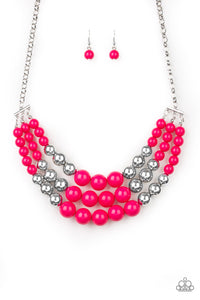 Paparazzi Dream Pop - Pink Necklace