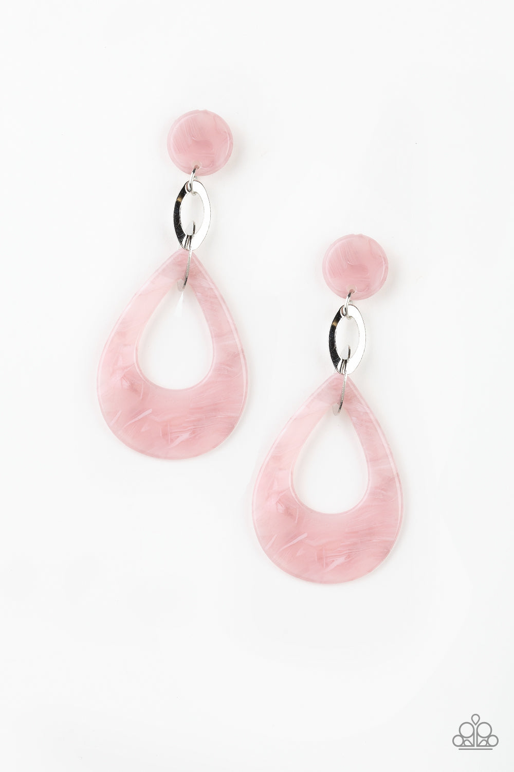 Paparazzi Beach Oasis - Pink Earrings